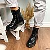 Ботинки женские на флисе черные  высокие деми11\3663, фото 5