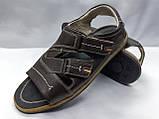 Чоловічі коричневі шкіряні сандалі Rondo, фото 5