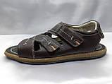 Чоловічі коричневі шкіряні сандалі Rondo, фото 3