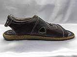 Чоловічі коричневі шкіряні сандалі Rondo, фото 2