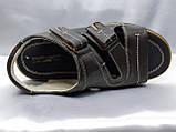Чоловічі коричневі шкіряні сандалі Rondo, фото 7