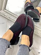Туфли женские бордовые, фото 2