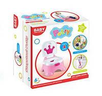 Горшок детский ,BABY, музыкальный, 68011 розовый