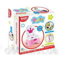 Горщик дитячий ,BABY, музичний, 68011 рожевий