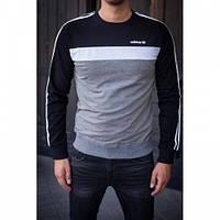 Свитшот Adidas черно-серый