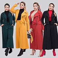Женский стильный костюм двойка (короткий пиджак и кюлоты) /разные цвета, 42-62, ST-56981/