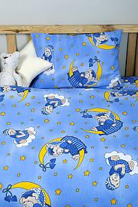 Детское постельное белье для младенцев Lotus ранфорс - ToBi синий