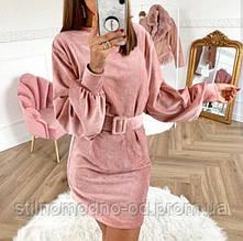 ПЛАТТЯ вельвет, пряжка обтягнута тканиною в колір сукні, пояс в комплекті від СтильноМодно