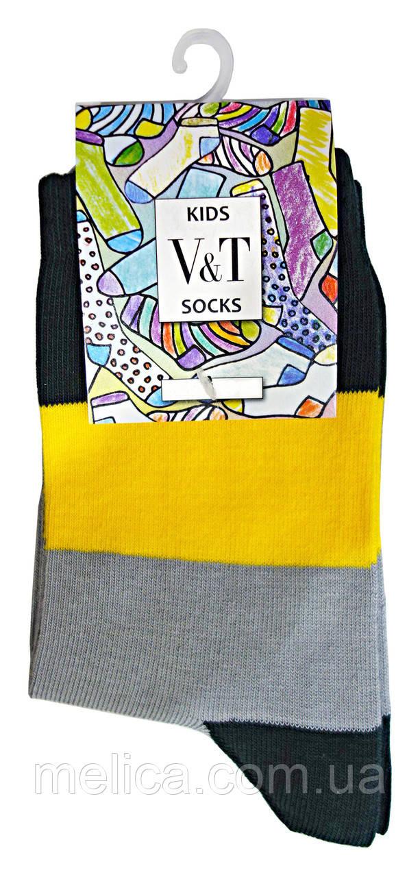 Носки детские Kids Socks V&T classic ШДКг 024-0440 Гарри р.20-22 Темно-зеленый/св.серый
