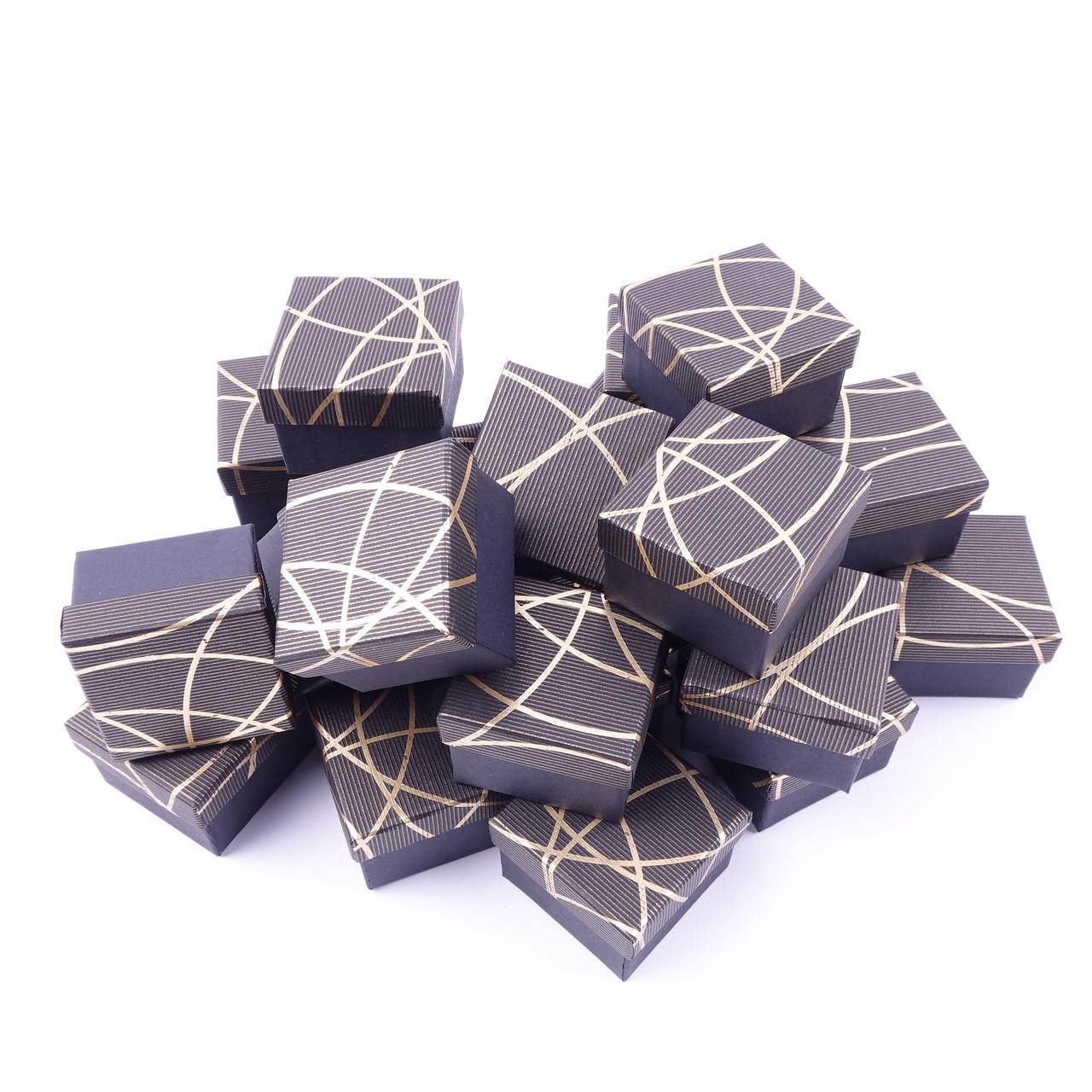 """Ювелирная коробочка под кольцо, подарочная """"Блестящая полоска коричневая"""" box20"""