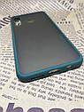 Чехол бампер накладка на Samsung A30 2019 (A305F) противоударный цветная окантовка черный синий, фото 6