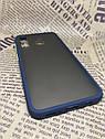 Чехол бампер накладка на Samsung A30 2019 (A305F) противоударный цветная окантовка черный синий, фото 8