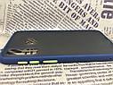Чехол бампер накладка на Samsung A30 2019 (A305F) противоударный цветная окантовка черный синий, фото 9