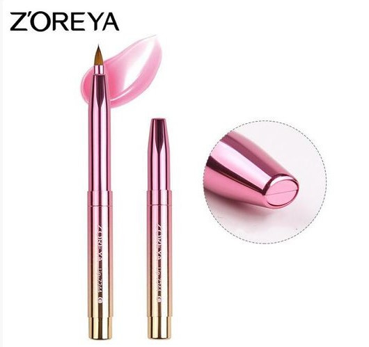 Кисть для макияжа губ выдвижная Zoreya Shine