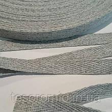 Киперная лента 10мм, цвет серый меланж