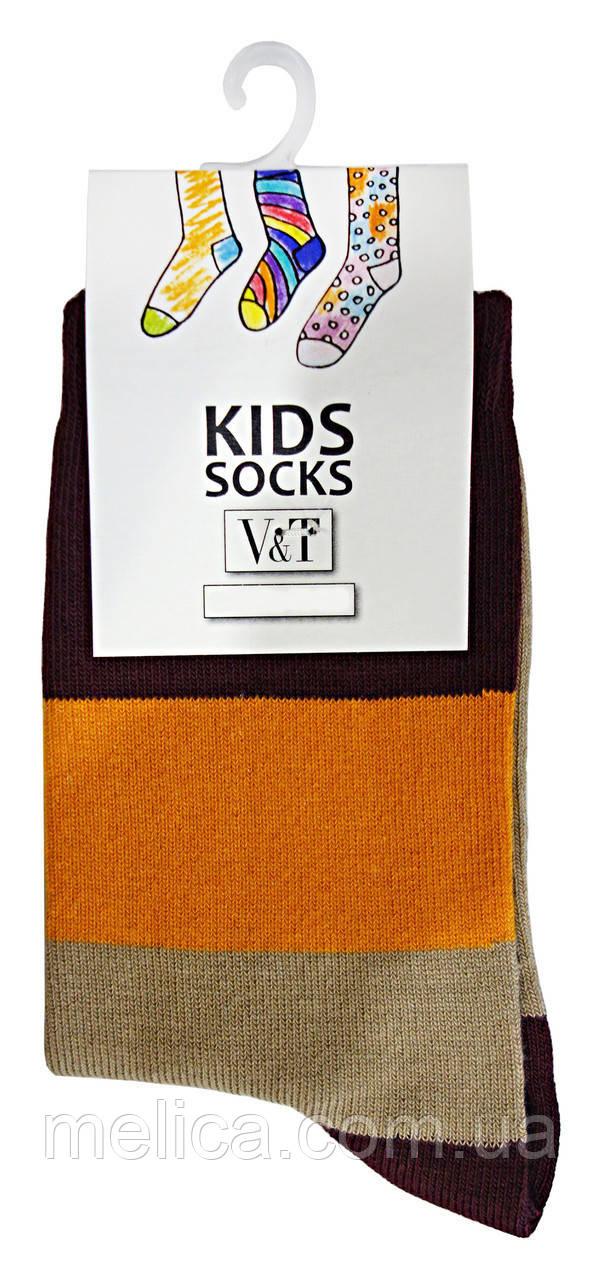 Носки детские Kids Socks V&T classic ШДКг 024-0440 Гарри р.22-24 Бордовый/св.бежевый