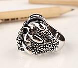 Мужское кольцо CTK-best 1200 Череп, из нержавеющей стали, 20.6 размер, фото 4