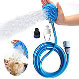 Щетка-душ для мойки животных 2Life BD-188 Голубой (n-474), фото 3
