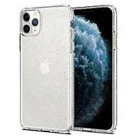 Чехол Spigen для iPhone 11 Pro Liquid Crystal Glitter, Crystal Quartz (077CS27229), фото 1