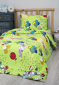 Постельное белье для подростков Lotus Young - Donald Duck V2 зеленый ранфорс