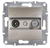Телевизионная розетка TV-SAT 1dB бронза (отдельное контактное гнездо) Asfora  EPH3400469