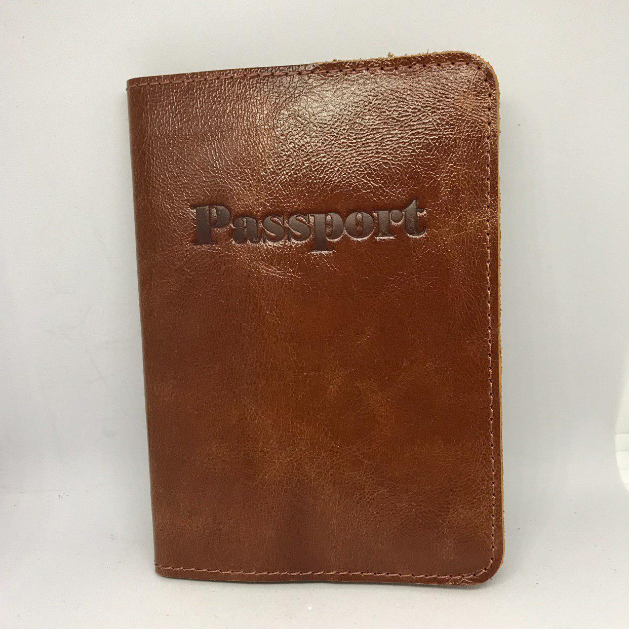 "Обкладинка на паспорт шкіряна ""Vip"", v.1.0 алькор дерево, Обложка для паспорта кожаная ""Vip"""