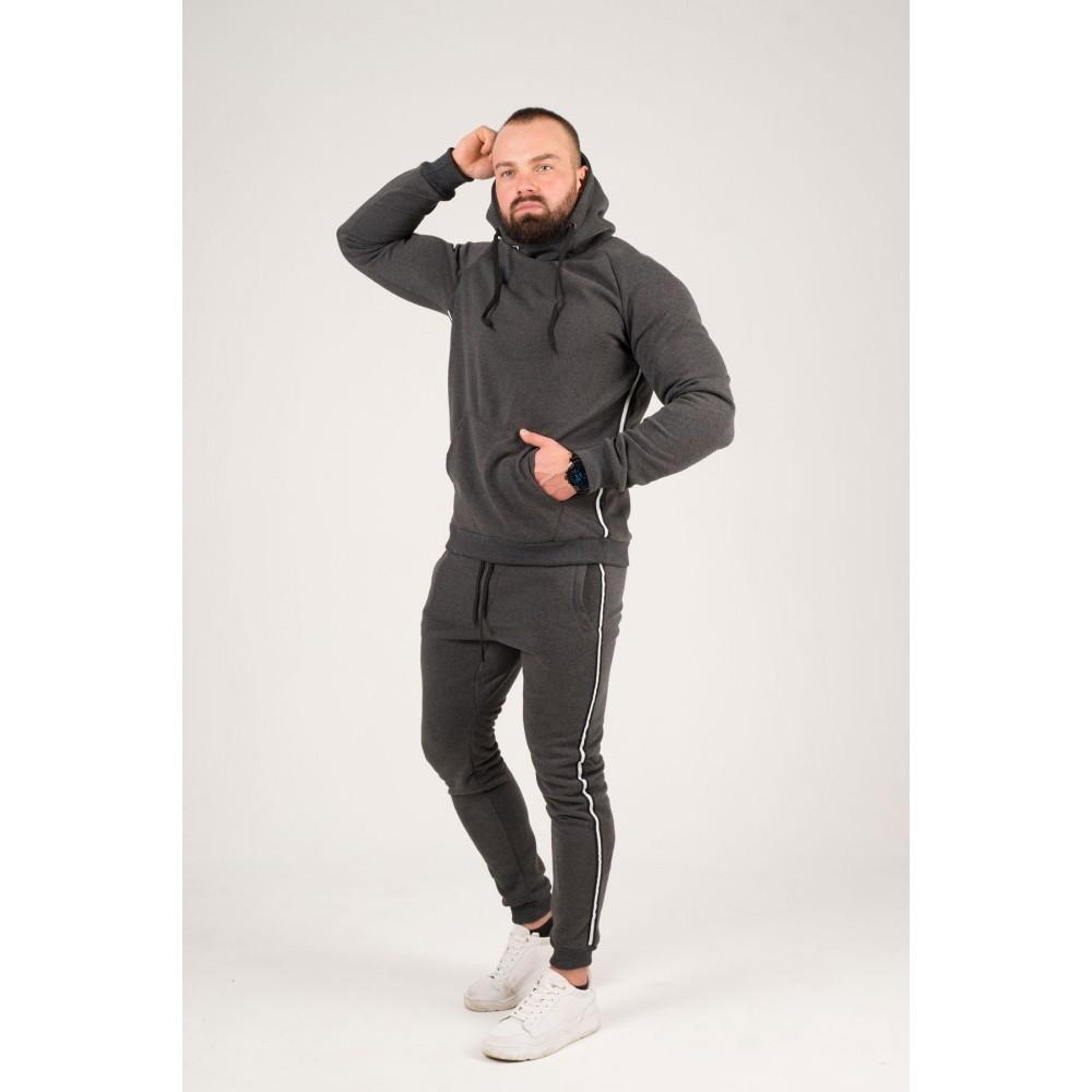 Мужской спортивный костюм Лампас (серый)