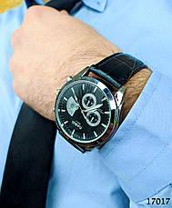 Годинники чоловічі в стилі Casio. Чоловічі наручні годинники кольору срібло. Годинник з чорним циферблатом Годинник чоловічий, фото 3