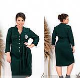 Платье женское большого размера цвет-темно-зеленый, фото 2