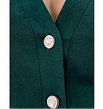 Платье женское большого размера цвет-темно-зеленый, фото 4