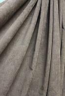 Ткань для штор однотонная микровельвет цвет графитный, серый