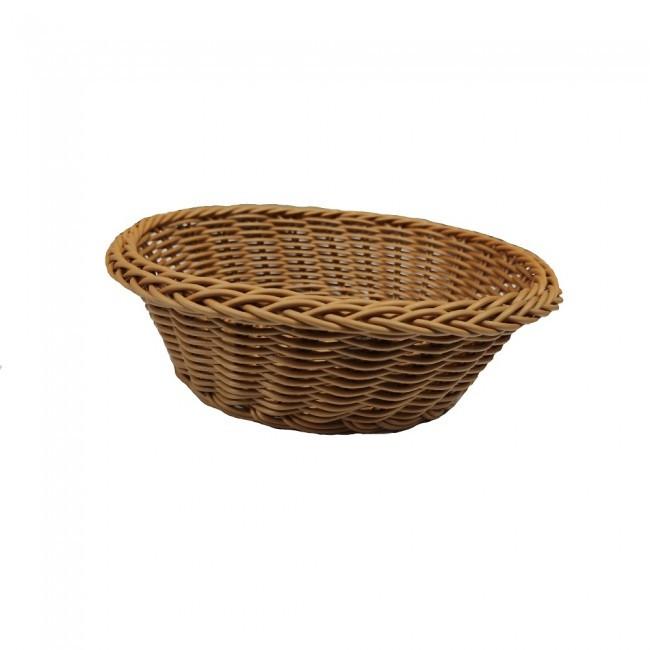 Корзина плетеная круглая для фруктов, хлеба 21х6,5см (арт. 7335)