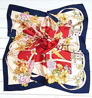Шелковый платок Вероника, 90*90 см, красный