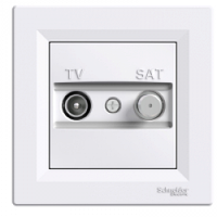 TV-SAT розетка 1 dB отдельное контактное гнездо Asfora белый, EPH3400421
