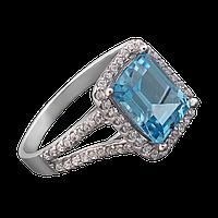 ✳️Серебряное кольцо  GS с прямоугольным камнем