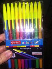 Набор ручек шариковых Goldex Colorstix 932 10цв