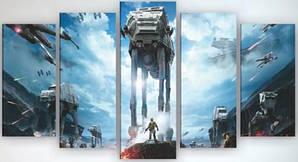 Картина модульная на холсте 125х70 Звездные войны