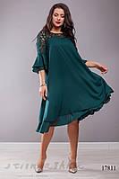 Большое нарядное  платье из шифона бутылка, фото 1