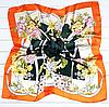 Шелковый платок Fashion Вероника 90*90 см зеленый