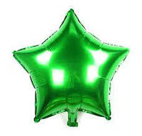 """16"""" (40 см) Звезда металлик зеленый Китай шар фольгированный"""