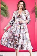 Женское летнее легкое платье софт больших размеров 50-60.