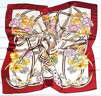 Шелковый платок Вероника, 90*90 см, бежевый