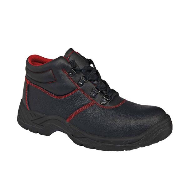Ботинки кожа Červa рабочие демисезон стальной подносок МБС антипрокольная пластина S1P SRC черные