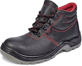 Ботинки кожа Červa рабочие демисезон стальной подносок МБС антипрокольная пластина S1P SRC черные, фото 2