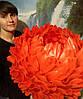 Червоний піон - світильник - нічник. Великі ростові квіти з ізолону.