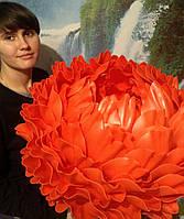 Червоний піон - світильник - нічник. Великі ростові квіти з ізолону., фото 1