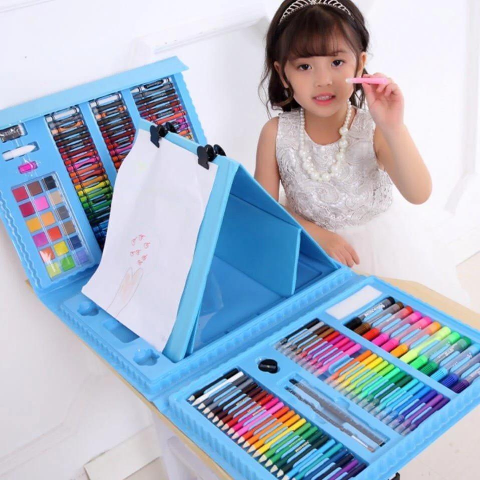 Набор для рисования с мольбертом Just Amazing в чемоданчике (208 предметов) Blue