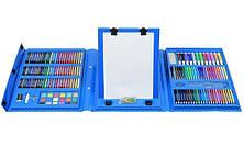 Набор для рисования с мольбертом Just Amazing в чемоданчике (208 предметов) Blue, фото 2
