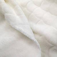 """Ткань махра велсофт молочная  design """"чешуя"""""""