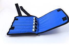 Утяжелители на руки и ноги регулируемые  2х6 кг, синий (груз 1000 г - 12 шт., металл)